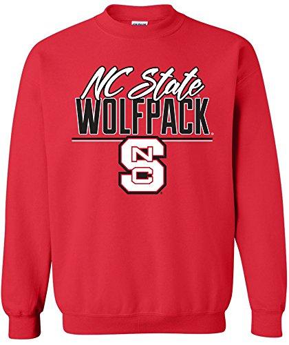 Nc State Football - NCAA North Carolina State Wolfpack Adult Unisex NCAA Script Crewneck Sweatshirt,Medium,Red