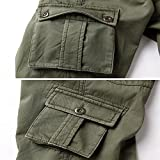 AOYOG Thicken Mens Winter Fleece Lined Cargo Pant