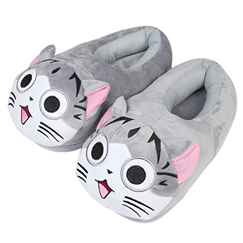 GRD Plush Slippers Emoji Slippers Cozy Shoe Cute Soft Warm and Comfortable Cotton Slippers 28.5x13.5CM (Cat) - Grd Slippers