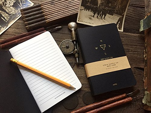 Explore Notes - Travel Notebooks - Black 3-Pack Photo #3