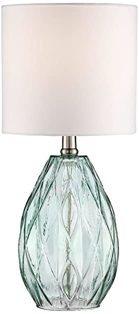 Delightful Rita Blue Green Glass Accent Table Lamp Amazing Pictures
