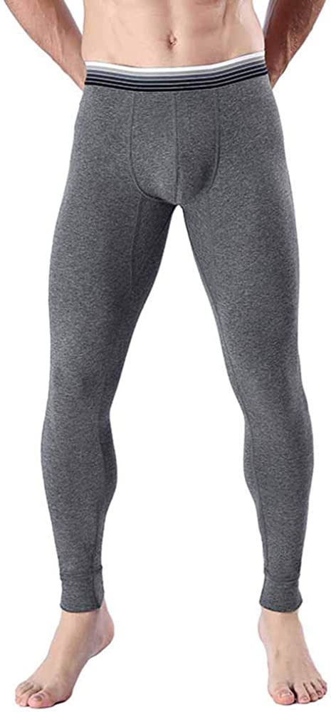 Hibasing Thermal Bottoms Trousers Men Warm Lightweight Soft Comfortable Thermal Long Johns Underwear