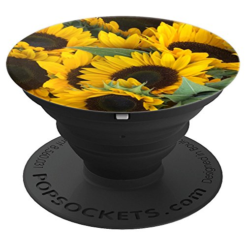(Sunflowers Nature Photo - PopSockets Grip and Stand for Phones and Tablets)