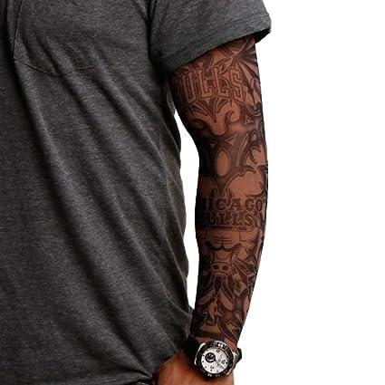 Amazon.com : NBA Chicago Bulls Dark Undertone Tattoo Sleeve ...