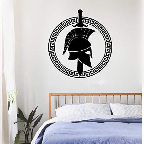 Inspiring Quotes Home Art Decor Decal Mural Spartan Greek Warrior Sword Shield Ancient ()