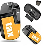 Liili Wireless Mouse Travel 2.4G Wireless Mice with USB Receiver, Click with 1000 DPI for notebook, pc, laptop, computer, mac book tax word on laptop keyboard key business concept