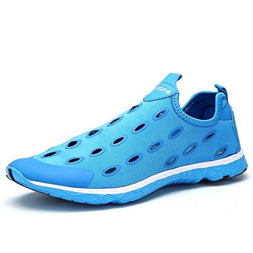 Aleader Women's Slip On Aqua Water Shoe Blue 9 D(M) US