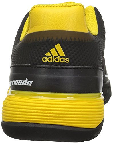 Pictures of adidas Kids' Barricade xJ Tennis Shoe BY9918 Black/White/Yellow 8