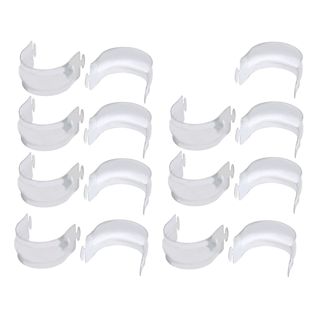 uxcell 15pcs Zinc Plated Air Conditioning Hanging Code Buckle Card for 40mm Dia Pipe