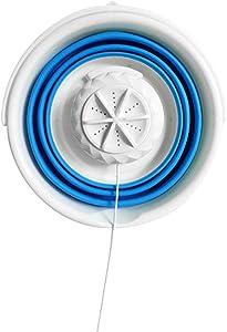 N/B Portable Mini Washing Machine for Clothes ,Foldable Washer Machine ,Lightweight Ultrasonic Turbine Washer USB Powered Travel Laundry Washer,Folding Clothes Washing Machine Bucket