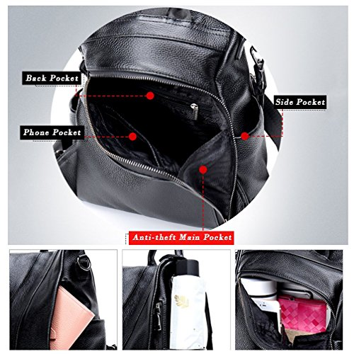 Lightweight Anti black Purse A Lozodo Bags School Shoulder Waterproof For Rucksack Backpack theft Women Girls q6BRRwxZI0