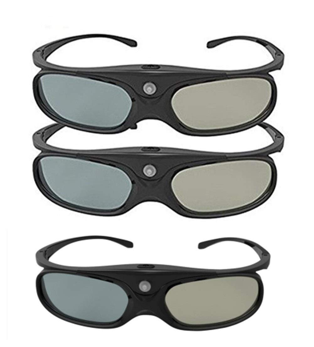 MJTCJY Gafas 3D activas DLP Link compatibles con los proyectores ...
