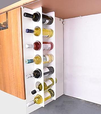 Jbi Wall Cabinet Mounted Steel Narrow Wine Rack 7 Bottle Holder
