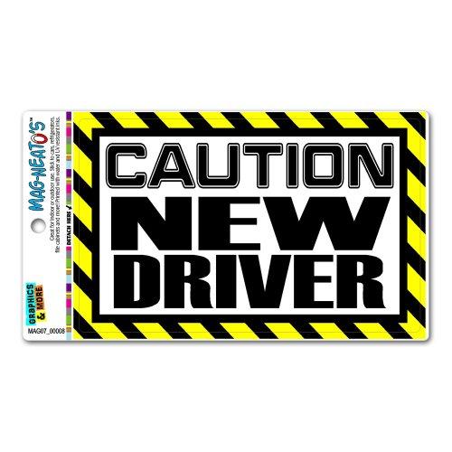 Caution New Driver MAG-NEATO'S™ Automotive Car Refrigerator Locker Vinyl Magnet