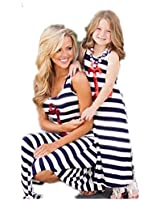 Family Clothes Outfits Mommy and Me Chevron Maxi Party Dress Beach Sundress