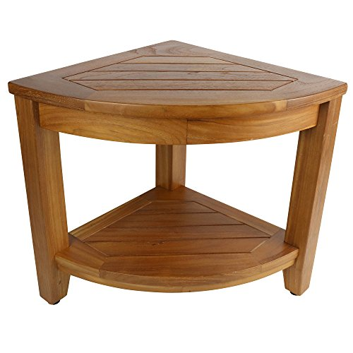 Teak Shower Table: Jakarta Corner Spa Table (Teak Stool Shower Corner)