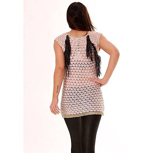 Miss Wear Line - Tunique en rose et doré avec sky sur les cotés