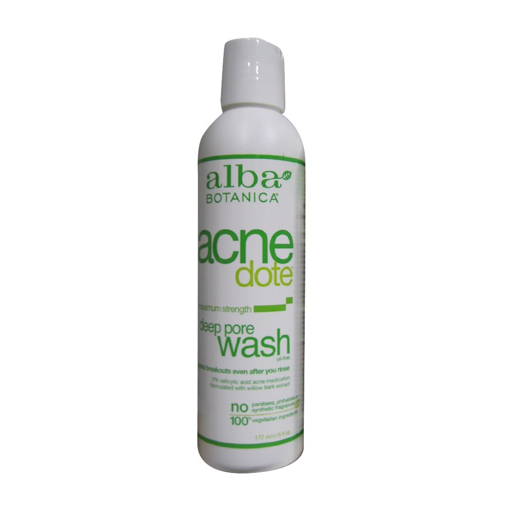 Alba Botanica Natural Acnedote Deep Pore Wash, 6 Ounce.