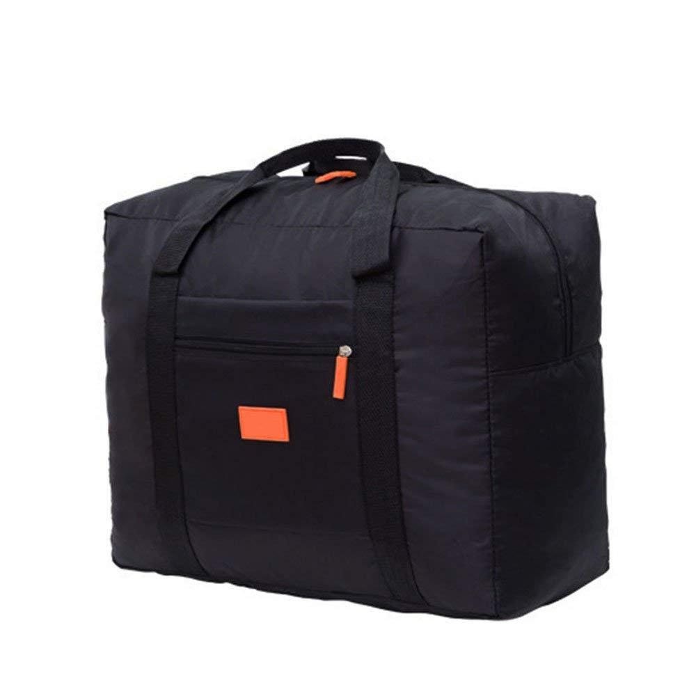 Wearesh Travel Handbag Lightweight Foldable Waterproof Duffle Bag Luggage Carrying Bag Camping Organizer Storage Black