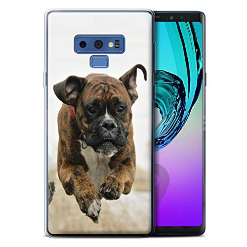STUFF4 Gel TPU Phone Case/Cover for Samsung Galaxy Note 9/N960 / Boxer Design/Popular Dog/Canine Breeds Collection