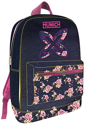 Munich Flower 455711 Mochila Tipo Casual, 45 cm, 19 litros, Rosa: Amazon.es: Equipaje