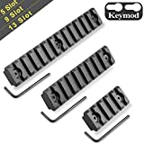 Monoki Keymod Picatinny Rail Sections, 5-Slot 9-Slot 13-Slot Lightweight Picatinny Rail Section for Keymod Handguard Mount Rail System with 3 Allen Wrench & Solid-Style, 3 Pack