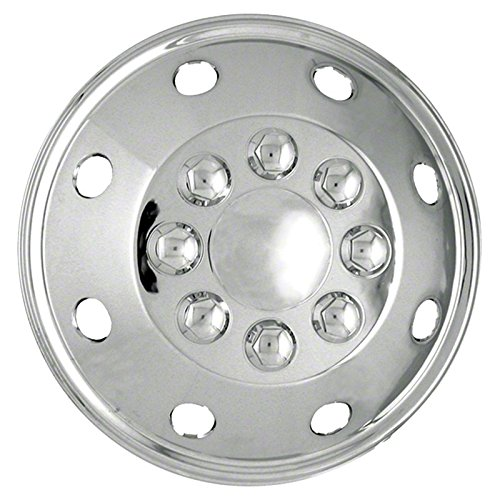 Set of Four 16'' Polished Stainless Steel 8 Lug Wheel Simulators (Push-on)