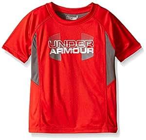 Under Armour Little Boys Matrix Big Logo Tee, Risk Red, 4