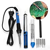 60W 110V Electric Soldering Iron Kit Adjustable Temperature Welding Starter Tool