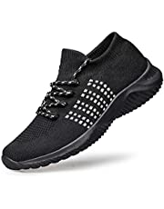 Alibress Women Lightweight Sneakers Breathable Mesh Lace Up Sport Shoes for Casual Walking,Daily Commute