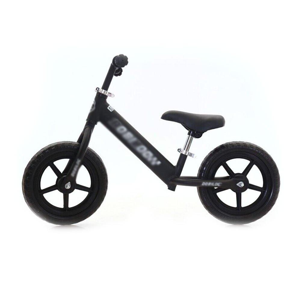 赤ちゃんのスクーターバランス車は、ペダルを使わずに子供のバランスの自転車を膨らませる必要はありませんバギー子供のスクーター2つのラウンドウォーカー子供のダブルホイール自転車12インチ2-6歳 B07F5JZRPNBlack