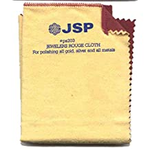 """JSP®Jewelry Polishing Cloth 12""""x12"""" Double Side Jeweler Silver Gold Rouge"""