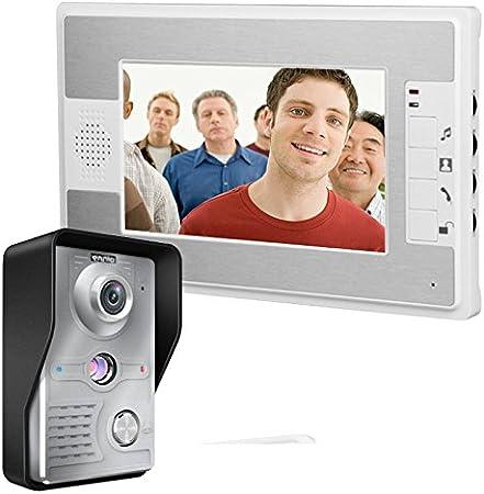 """7/"""" color TFT LCD Doorbell Video Intercom System Door Phone Indoor Monitor Unlock"""