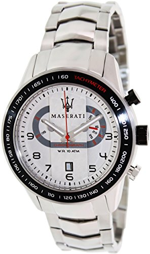 Maserati Men's Corsa R8873610001 Silver Stainless-Steel Analog Quartz Fashion Watch