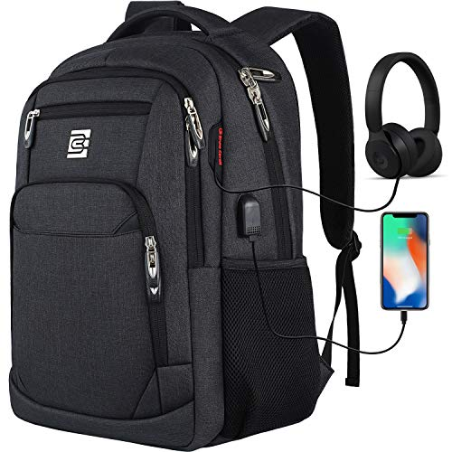 Travel Laptop Backpack with USB Charging&Headphone Port,Anti-Theft Business Laptop Backpack with