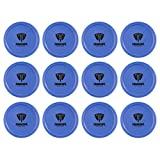 Truscope Sports 12 Pack 3 1/4 Inch Air Hockey Pucks (Blue)