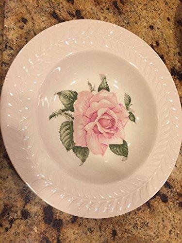 (Theodore Haviland Pink Regents Regency Park Rose Fruit Dessert Set 4 Plates Bowl)