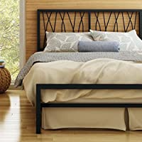 Amisco Ivy Metal Bed, Queen Size 60, Black Coral/Textured Black