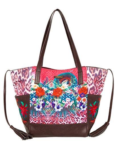 Desigual BOLS ORLANDO LEOPARD Shopper Mehrfarbig Polyester 51X50Y4-3063
