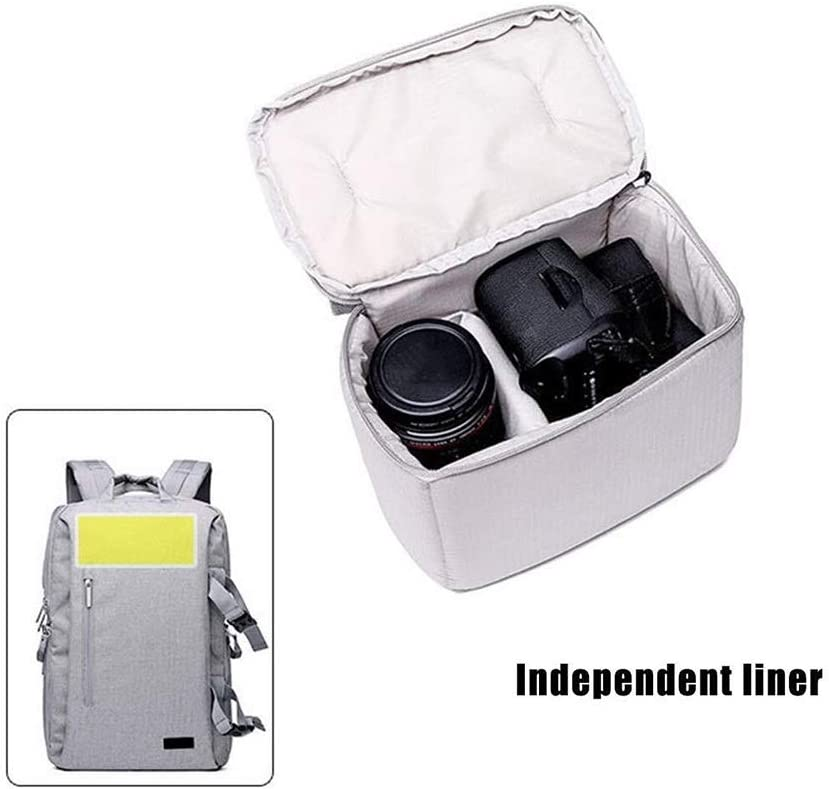 Nuanxingjiafang Stylish Casual Outdoor Travel SLR Camera Backpack with Rain Cover Camera Bag Oxford Cloth Tripod Laptop Bulk Storage Bag Well-Made