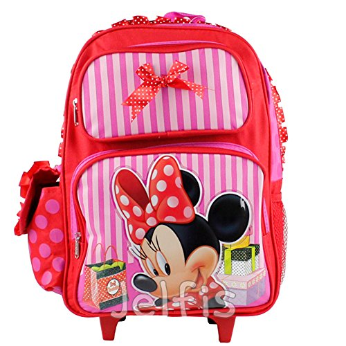 Disney Junior Minnie Mouse 16' Large Roller Backpack - Pink Shopping Day