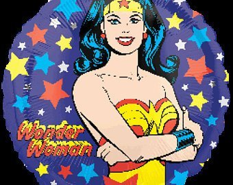 Wonder Woman Super Heroes Party Mylar Foil Balloon Decoration Favor 3PC - 18in (Wonder Woman Balloons)