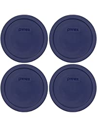 Take Pyrex Blue 3 Cup Round Storage Cover #7401-PC for Glass Bowls 4-Pack online