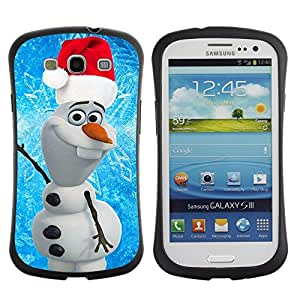 """Hypernova Slim Fit Dual Barniz Protector Caso Case Funda Para SAMSUNG Galaxy S3 III / i9300 / i747 [Navidad de Santa azul Invierno""""]"""