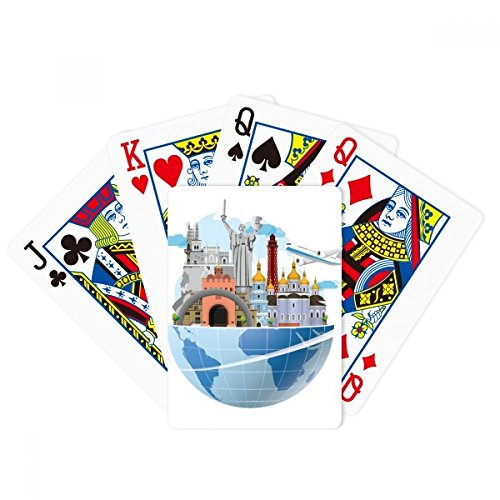beatChong Landmark Travel Journey Ukraine Plane Poker Playing Cards Tabletop Game Gift by beatChong