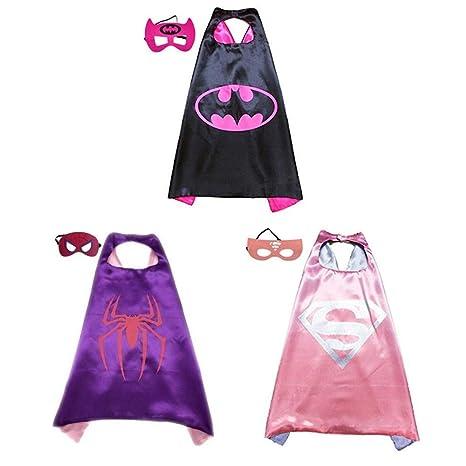 BJ-SHOP Capas de Superhéroes,Traje de superhéroe Niños Vestir Capas de niños y