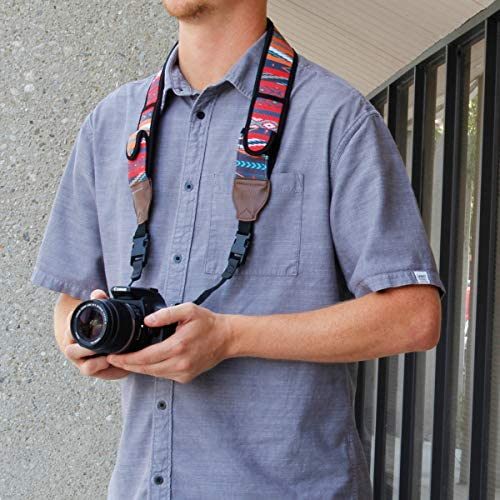 Nikon Instant Cameras USA Gear DLSR Camera Strap with Aztech Neoprene Design Compatible with Canon Accessory Storage Pockets and Quick Release Buckles Sony and More Mirrorless