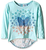 Beautees Girls' Hi-Low Top with Butterfl...
