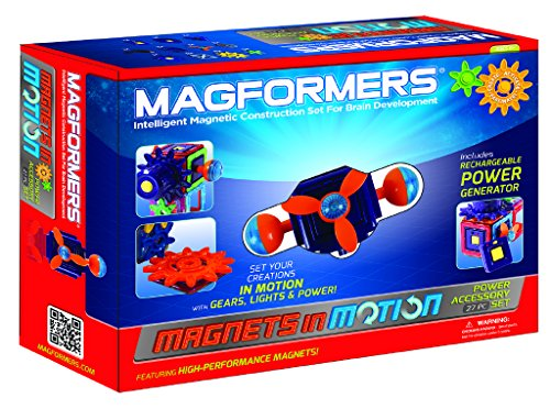 Magformers Magnets in Motion Power Accessory Set (27-Pieces) Magnetic    Building      Blocks, Educational  Magnetic    Tiles Kit , Magnetic    Construction  STEM Gear Set