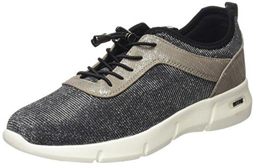 MTNG WoMen Ferrata Low-Top Sneakers Silver (Nurexin Plata / Santo Plata / Licra Black )